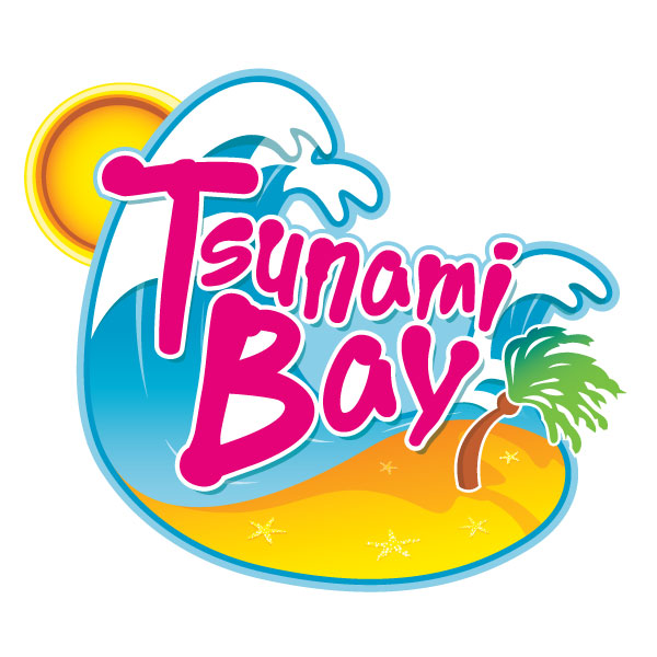 Waterpark Logos Logo for tsunami bay,