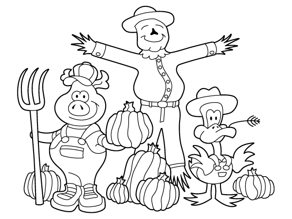 coloring pages fall animals images - photo#23