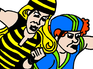 Roller Derby Babes - Thumbnail