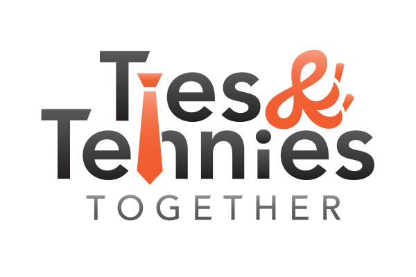 Final logo for Ties & Tennies Together