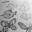 Animal preliminary sketches