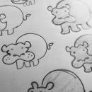 Hippo preliminary sketches