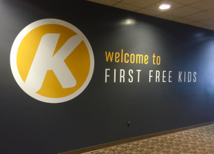 Kids Care Area ID Signage » First Free Rockford (2015)