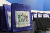 Sapora Playworld bag design for renovation launch party
