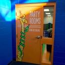 Sapora Playworld party room entrance door » vinyl decals