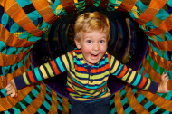 My son, Griffin, playing at Sapora Playworld at the renovation launch party