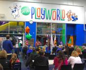 Sapora Playworld renovation launch party » main ID sign above main entrance